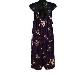 torrid Pants - Torrid Purple Floral Jersey Romper